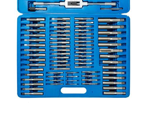 Набор метчиков+вороток M6-М12 из Р18 (11 предметов) в деревянной коробке
